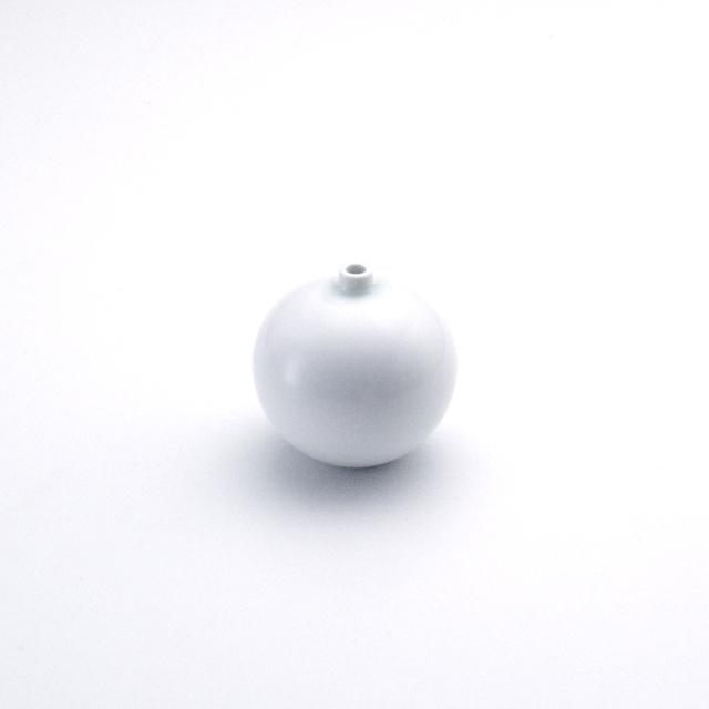球型ミニ花瓶 白マット