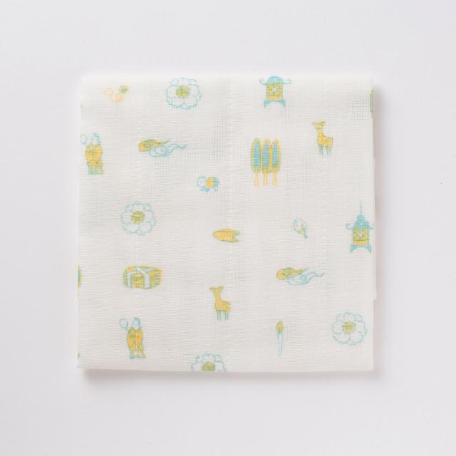 中川政七商店 KUTANI SEAL ふきん 奈良の風物 蚊帳生地 日本製
