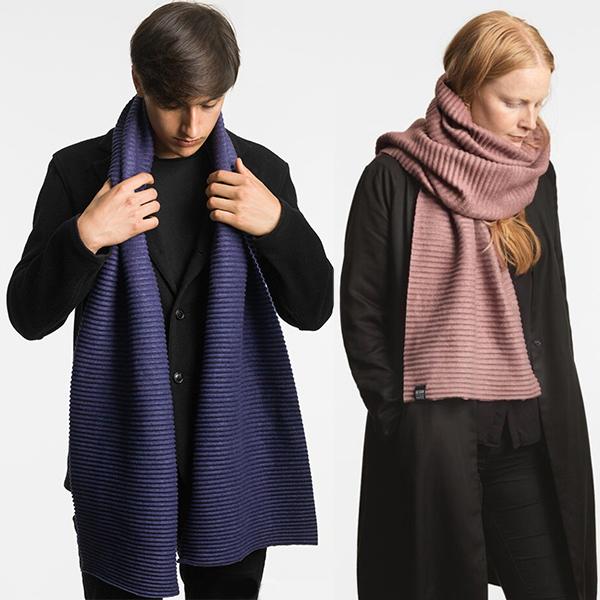 デザインハウスストックホルム ロングマフラー DESIGN HOUSE Stockholm Pleece LONG scarf プリース ブラック ミッドナイトブルー ピンク ライトグレー ダークグレー キャメル