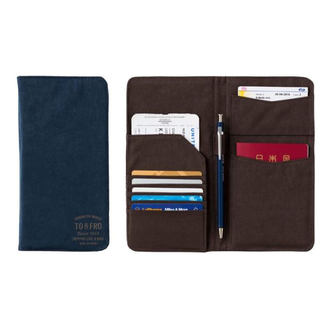 TO&FRO PASSPORT COVER たっぷり収納できるパスポートケース 日本製 石川県