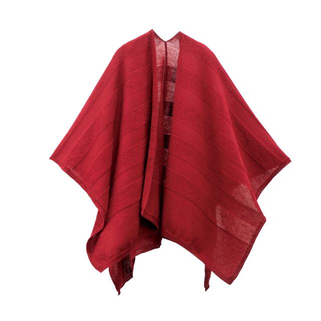 【mino】洗濯機で洗える ウール ポンチョ ボーダー 冬 アルパカ mino wool border tate-S