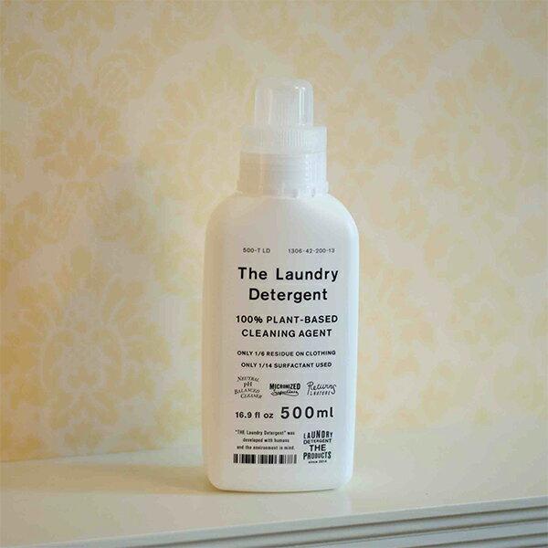 麻、ウール、シルクにも使える THE 洗濯洗剤 The Laundry Detergent  本体 ボトルタイプ 500ml 環境に優しい ラベンダーの香り がんこ本舗 送料無料