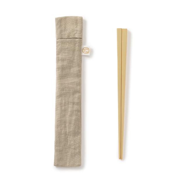 中川政七商店 竹の弁当箸 撥水加工の箸袋付き コンパクト 日本製