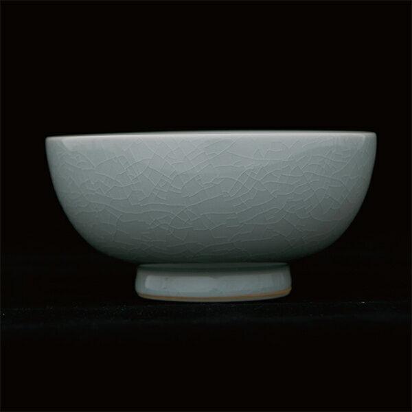 THE飯茶碗瀬戸古染土/透明釉/貫入