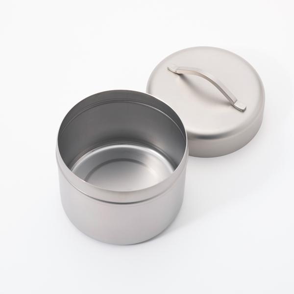 ステンレス製 珈琲缶Sサイズ 酸化や風味の劣化を抑えるコーヒーキャニスター 密閉 保存容器 工房アイザワ