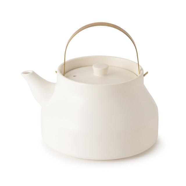 かもしか道具店 陶のやかん 遠赤外線効果でお湯がやわらかな口当たりに