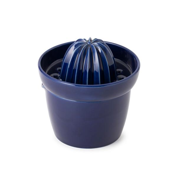 かもしか道具店 陶器のレモンしぼり器 日本製 黒 白 藍