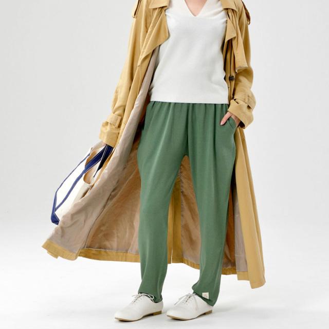 五泉ニット のびるニットパンツ レギュラータイプ ポケット付き オーガニックコットン ルームウェア ワンマイルウェア 部屋着 男女兼用