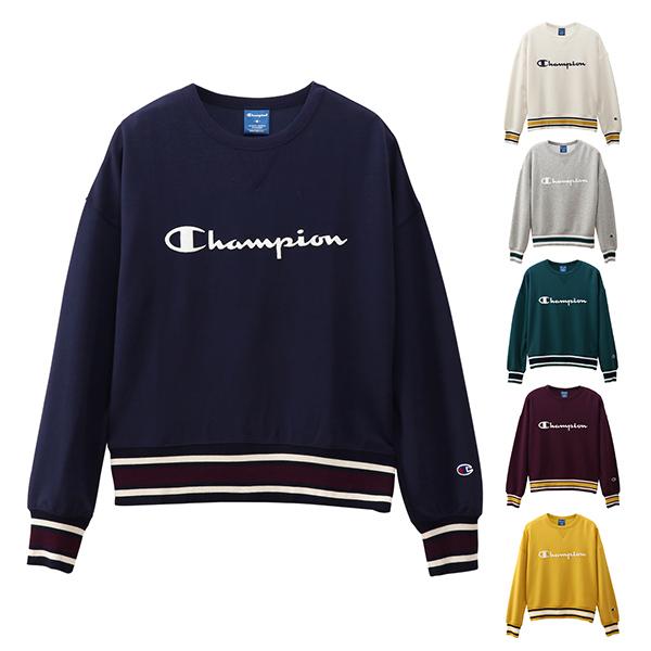 【予約】チャンピオン champion ウィメンズ クルーネックスウェットシャツ CREW NECK SWEATSHIRT