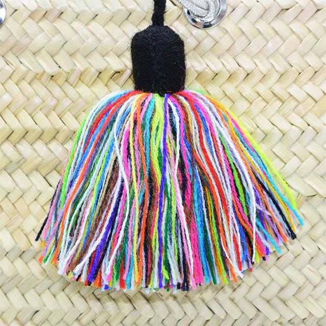 MIXタッセル ロープスクウェア カゴバッグ ファティマモロッコ Fatima morocco ショルダー 肩がけ