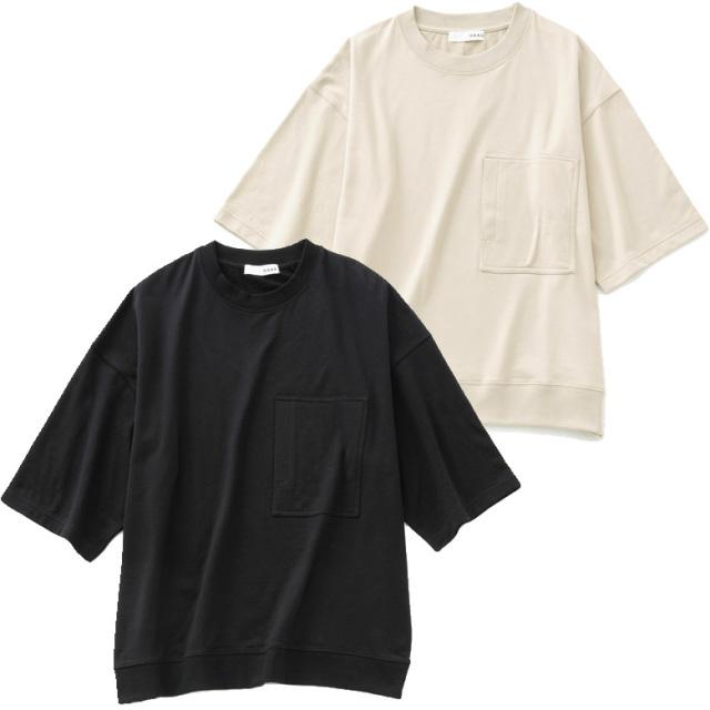 HAAG ビッグシルエット スウェット Tシャツ 半袖 ポケット付き スマイルコットン メンズ レディース