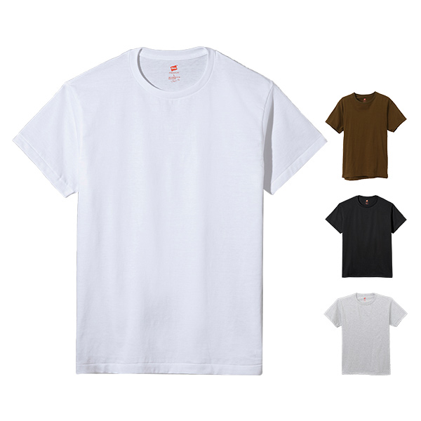 Hanes ヘインズ プレミアムジャパンフィット クルーネックTシャツ 19SS PREMIUM Japan Fit(HM1-F001)