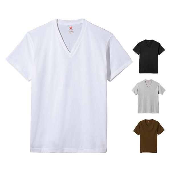 Hanes ヘインズ プレミアムジャパンフィット VネックTシャツ 19SS PREMIUM Japan Fit(HM1-F002)