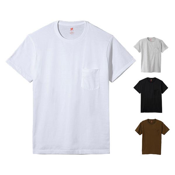 Hanes ヘインズ プレミアムジャパンフィット ポケット付クルーネックTシャツ 19SS PREMIUM Japan Fit(HM1-F004)