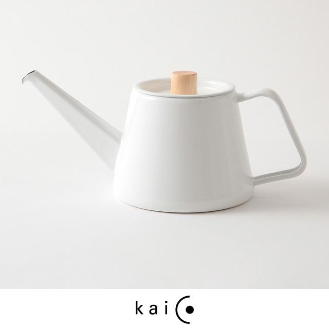 kaico カイコ ドリップケトル S 0.9L IH対応 ホーロー 琺瑯 白 ホワイト おしゃれ シンプル コーヒー 日本製
