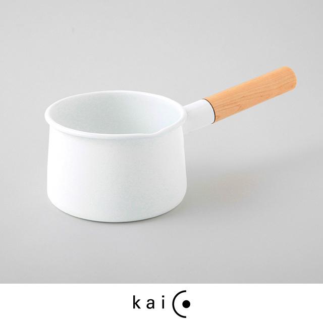 kaico カイコ ミルクパン IH対応 鍋 ホーロー 1.45L 琺瑯 白 ホワイト おしゃれ 可愛い シンプル 日本製
