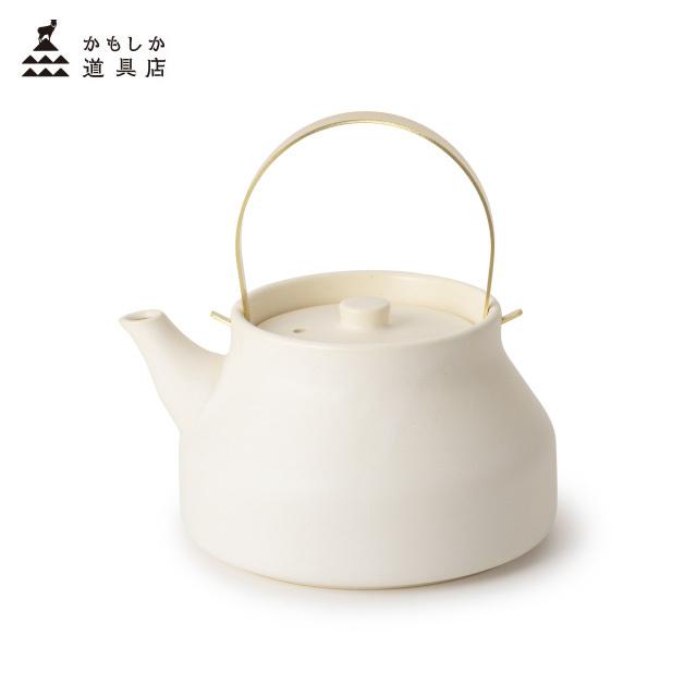 かもしか道具店 陶のやかん こぶりサイズ 1L 遠赤外線効果でお湯がやわらかな口当たりに 日本製 萬古焼