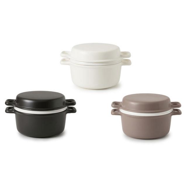かもしか道具店三とく鍋 ひとつの鍋で煮る、焼く、蒸すができる土鍋