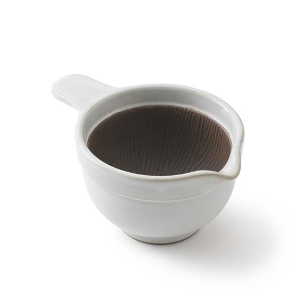 かもしか道具店 なっとうバチ ふつう 混ぜやすく、洗いやすい納豆のための小鉢  黒/白