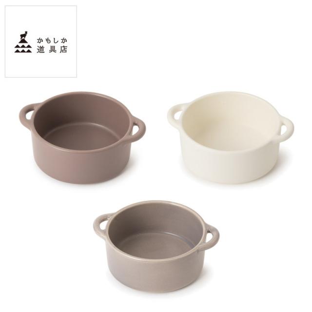 かもしか道具店 グリル皿 丸小 耐熱陶器 そのままオーブンへ 直火OK フライパンがわりにも 日本製