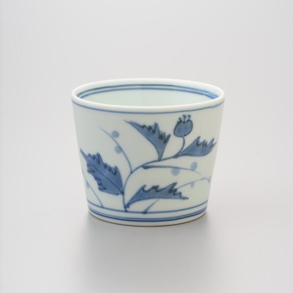 染付あざみ紋 そば猪口 渓山窯 そばつゆ デザート アイスクリームカップ 小鉢 陶器 日本製