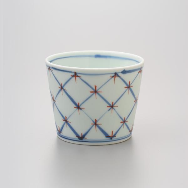 染錦四弁花 そば猪口 渓山窯 そばつゆ デザート アイスクリームカップ 小鉢 陶器 日本製