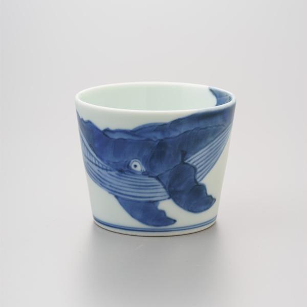 染付ナガスくじら そば猪口 渓山窯 クジラ そばつゆ デザート アイスクリームカップ 小鉢 陶器 日本製