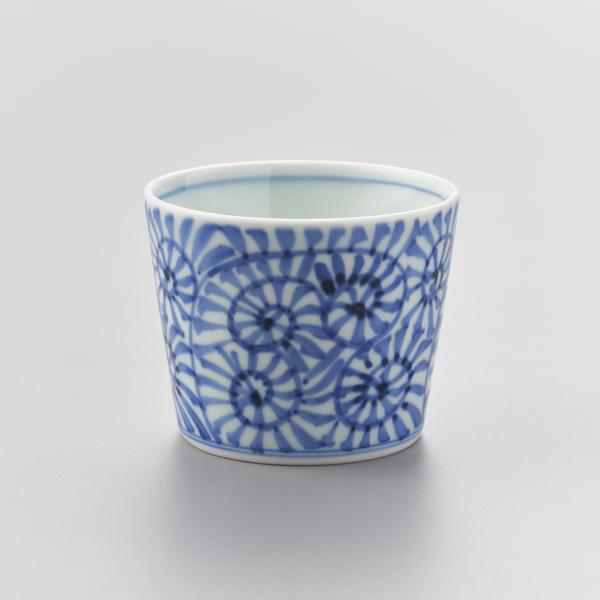 染付蛸唐草(総柄) そば猪口 渓山窯 そばつゆ デザート アイスクリームカップ 小鉢 陶器 日本製