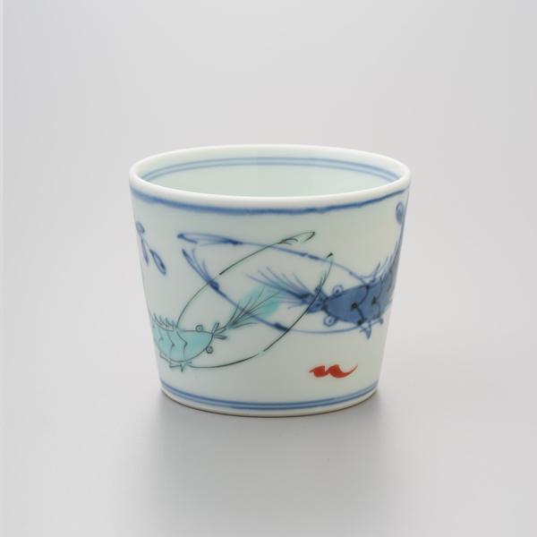 染錦双海老 そば猪口 渓山窯 そばつゆ デザート アイスクリームカップ 小鉢 陶器 日本製
