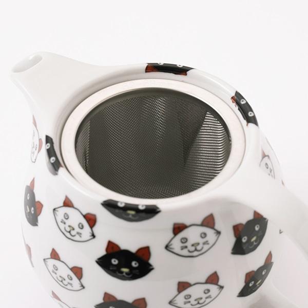 九谷焼 急須 ティーポット 猫 小鳥 縁起物 kutaniseal 和食器