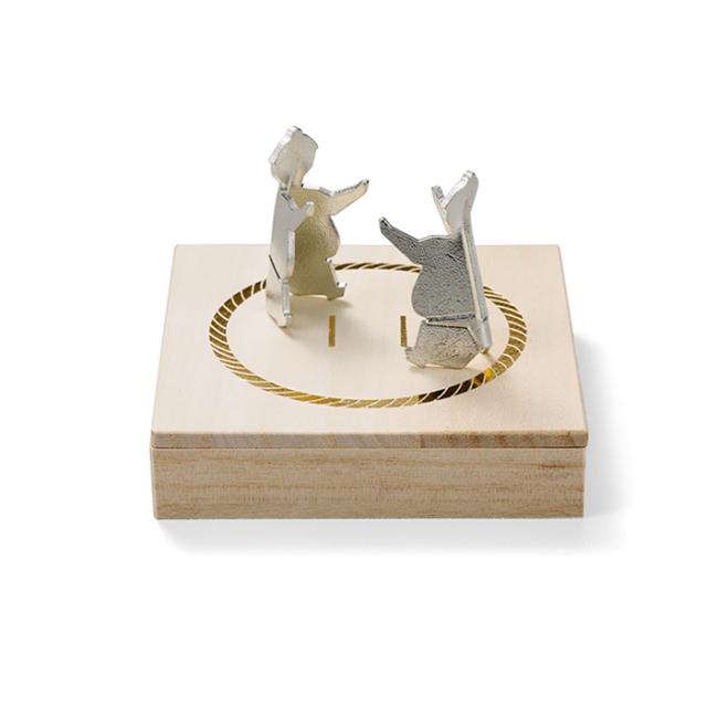 能作 錫の箸置き スモウレスラー 2ヶ入 お相撲さん 海外 お土産 贈り物 ギフト