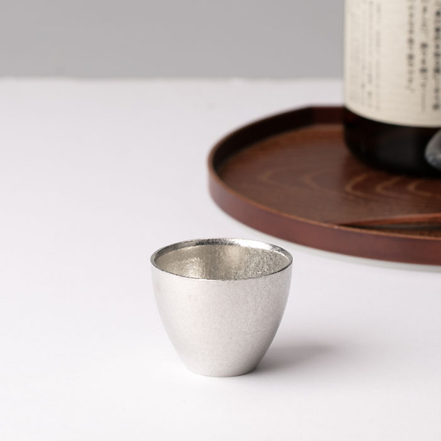 能作 ちょい呑 こぶりサイズのぐい呑み 錫製 ギフト 父の日 酒器