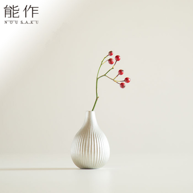 錫の一輪挿しフラワーベース いちじく 能作 花器 花びん おしゃれ 日本製 ギフト
