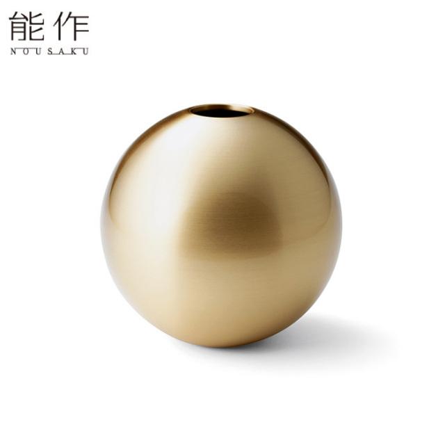 能作 真鍮のフラワーベース TAMA - L 花器 花びん おしゃれ 日本製 ギフト