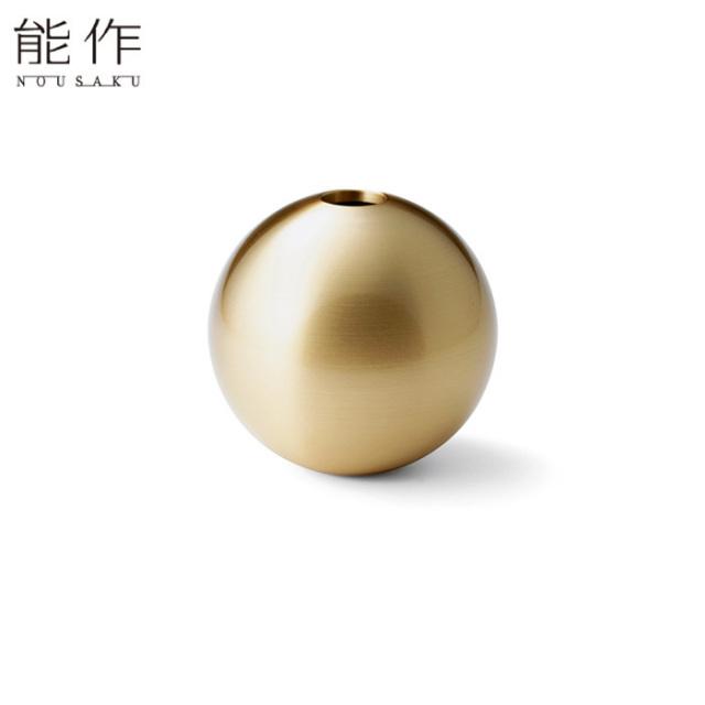能作 真鍮のフラワーベース TAMA - S 花器 花びん おしゃれ 日本製 ギフト