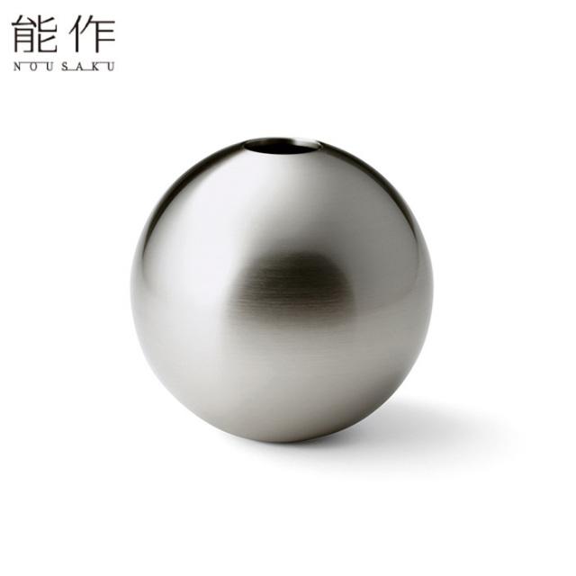 能作 真鍮のフラワーベース TAMA - 銀 - L 花器 花びん おしゃれ 日本製 ギフト