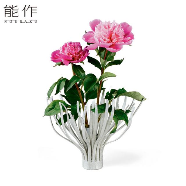 変形できる 錫のフラワーベース MOVE - L 能作 花器 花びん おしゃれ 日本製 ギフト