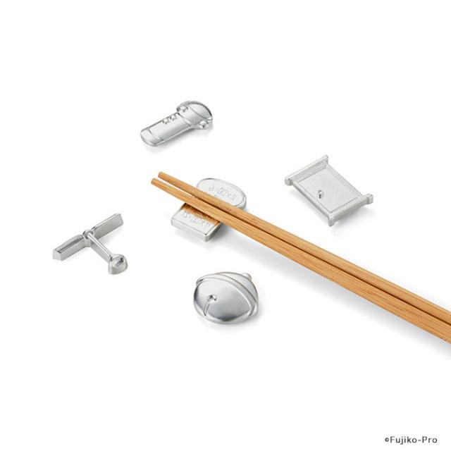 能作 ドラえもん ひみつ道具箸置 5個セット 錫100% 日本製 タケコプター 鈴 どこでもドア スモールライト