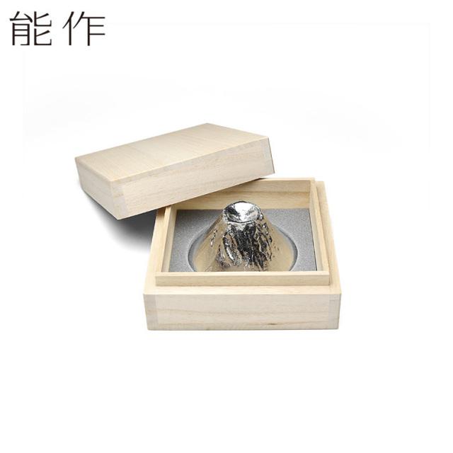 能作 富士山 FUJIYAMA 錫のぐい呑み 桐箱入り 父の日 贈り物 ギフト 酒器 日本製