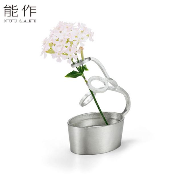能作 錫の一輪挿し フラワーベース LASSO 花器 花びん おしゃれ 日本製 ギフト