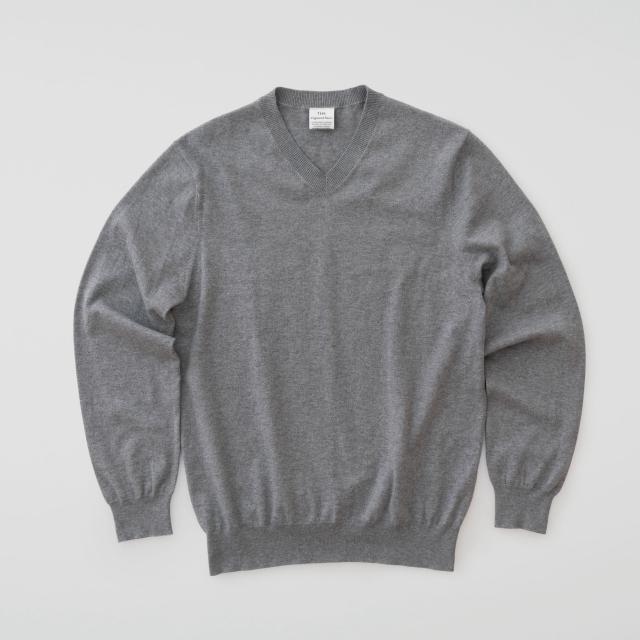 THE コットンカシミヤ Vネックセーター THE SWEATER V-neck