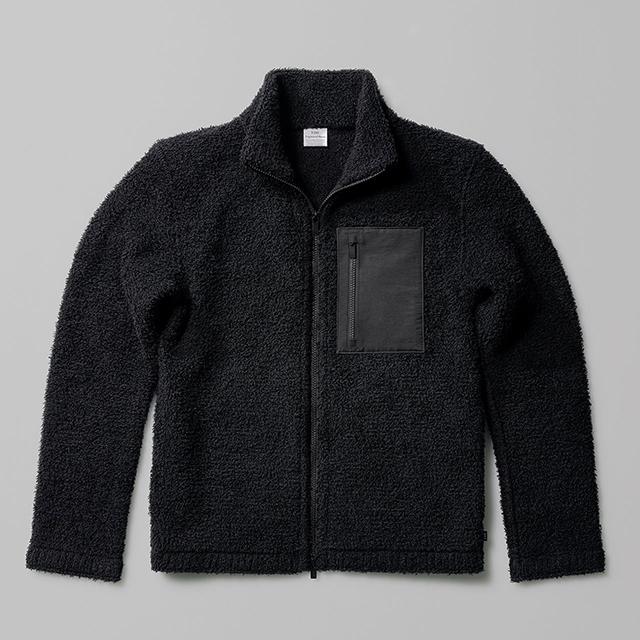 ウールのフリース ジャケット THE WOOL FLEECE JACKET 日本製 メンズ レディース 黒 ブラック