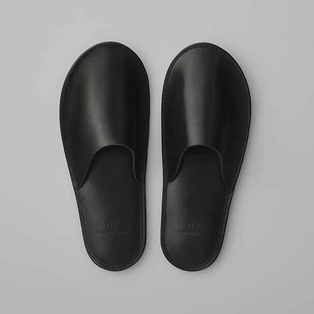 メンズ 牛革 スリッパ 室内履き ルームシューズ 日本製 THE SLIPPERS