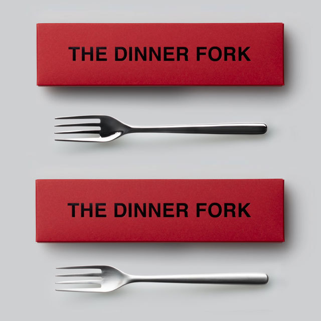THE ディナーフォーク ギフトボックス入り 日本製 おしゃれ シンプル 贈り物 プレゼント 新潟県 THE DINNER FORK Gift box