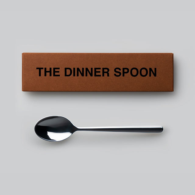 THE ディナースプーン ギフトボックス入り 日本製 おしゃれ シンプル 贈り物 プレゼント 新潟県 THE DINNER SPOON Gift box