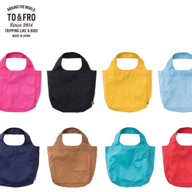 TO&FRO 超軽量22gの丈夫なエコバッグ トート コンパクト PACKABLE TOTE BAG Sサイズ