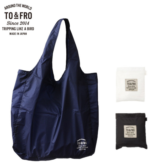 TO&FRO パッカブル 超軽量コンパクト 撥水 トート エコバッグ Mサイズ PACKABLE TOTE BAG-AIR