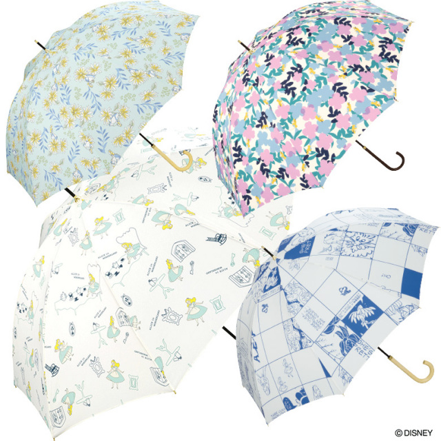 【Wpc】ディズニー 傘 晴雨兼用 UVカット 不思議の国のアリス