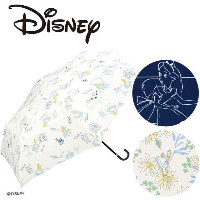 【Wpc】ディズニー 折り畳み傘 晴雨兼用 UVカット 不思議の国のアリス