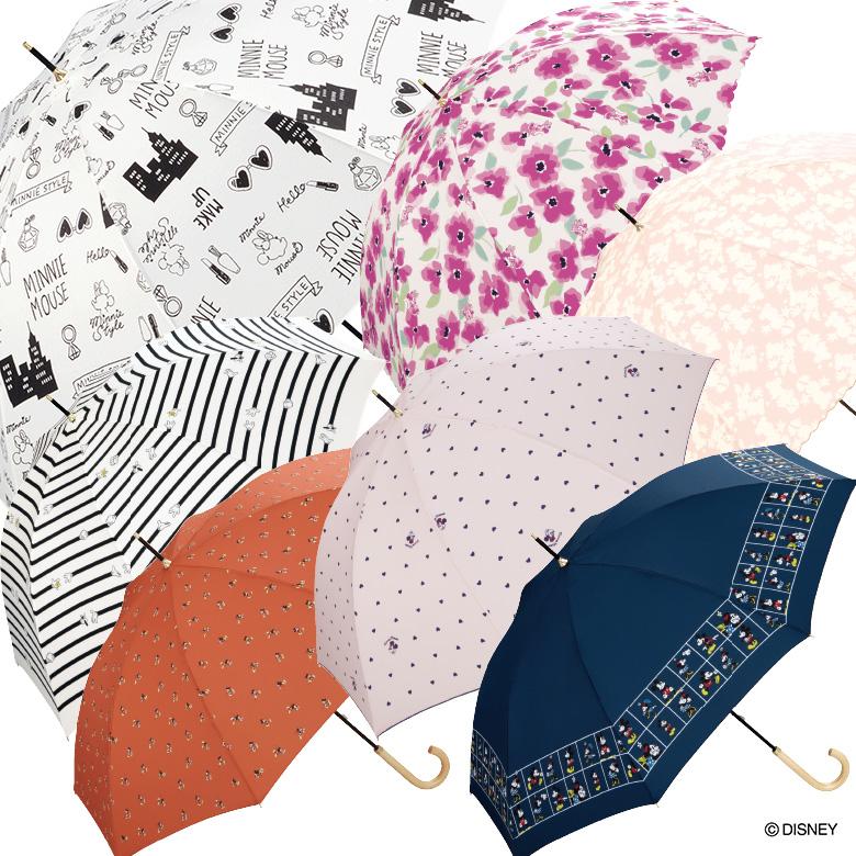 【Wpc】ディズニー 傘 晴雨兼用 UVカット ミッキー&ミニー デイジーダック
